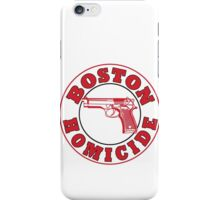 Rizzles Boston Homicide Logo iPhone Case/Skin