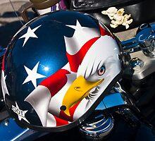 Biker's Helmet by Rick  Bender