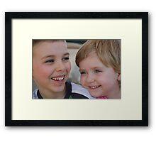 Cheeky Monkeys Framed Print