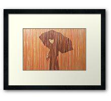 Jour de pluie Automne Framed Print