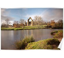 The Wharfe At Bolton Abbey Poster