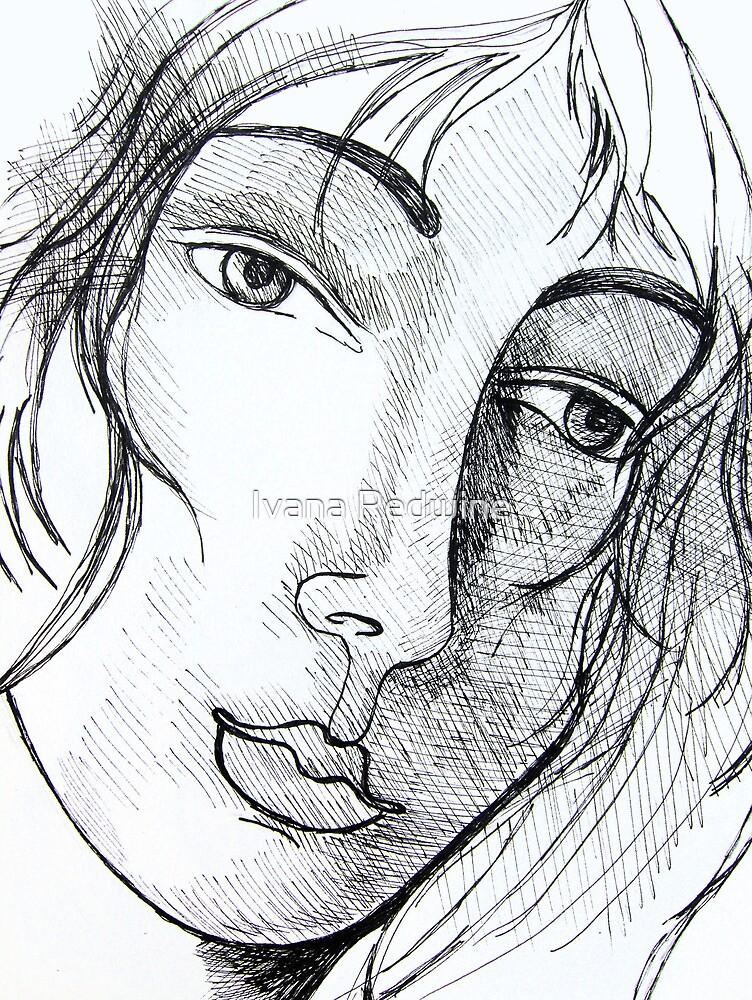 Portrait of an Imaginary Woman #2 by Ivana Redwine