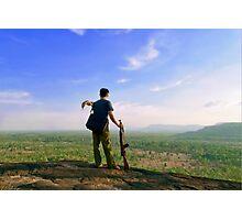 Archaeological Survey - Phou Lai mountain, Champasack, Laos Photographic Print