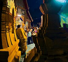 Meditating on a Festival - Vat Si Meuang, Laos by AsiaArchaeology