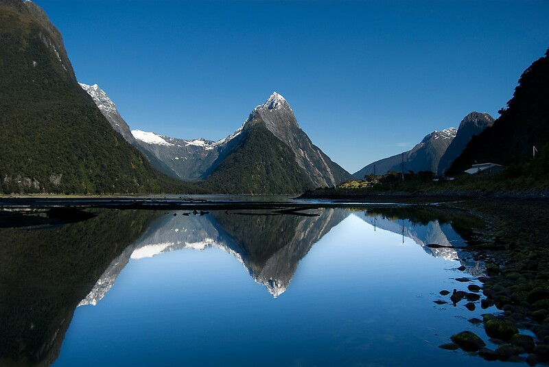 Quot Mitre Peak Milford Sound New Zealand Quot Posters By