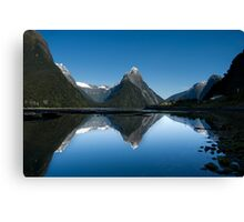Mitre Peak, Milford Sound, New Zealand Canvas Print