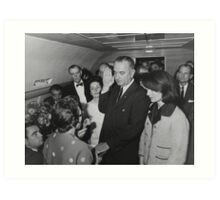 LBJ Taking The Oath On Air Force One Art Print