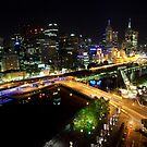 Melbourne at night by Mark Jones