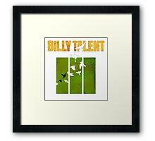 Billy Talent Any Color Backgrounds Framed Print