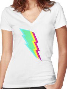 Lightning Women's Fitted V-Neck T-Shirt