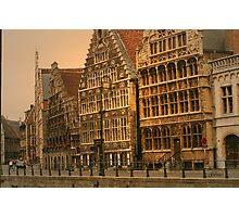 Belgium - Ghent Quay Photographic Print