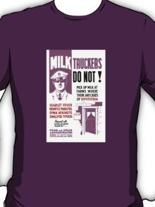 Milk Trucker FDA Warning Print T-Shirt
