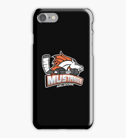 Melbourne Mustangs Classic White Logo iPhone Case/Skin
