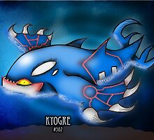 Kyogre - Lord of Rain by Bammelsan