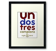 Barcelona: Treble Winners Shirt Framed Print