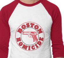Rizzles Boston Homicide Logo Men's Baseball ¾ T-Shirt