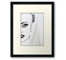 lady gaga - minimal Framed Print