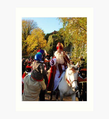 Sinterklaas once again Art Print