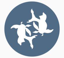 Infinity Koi Fish White Design One Piece - Long Sleeve