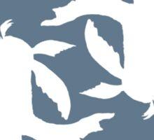 Infinity Koi Fish White Design Sticker
