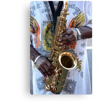 Playing the Sax Canvas Print