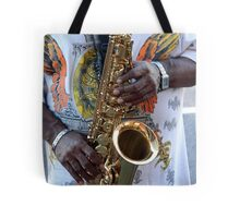 Playing the Sax Tote Bag