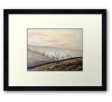 Silver Hills Framed Print