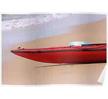 Canoe on the Beach Poster