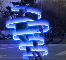 Cyclist in electroma by sanyi