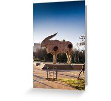 Eland Statue — City Art  Greeting Card