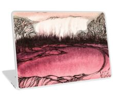 Springtime.Hand draw  ink and pen, Watercolor, on textured paper Laptop Skin