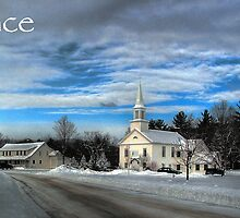 Hebron Common Winter, Peace by Wayne King