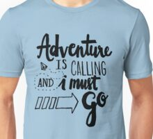 Adventure is Calling - Black Unisex T-Shirt