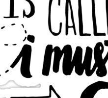 Adventure is Calling - Black Sticker