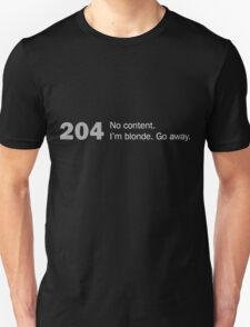 Http error 204 - no content / girly Unisex T-Shirt