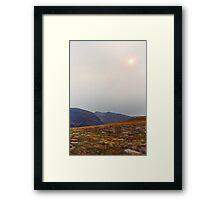 Wildfire Skies Framed Print