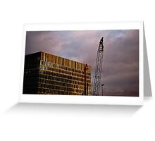 Crane and Building Greeting Card