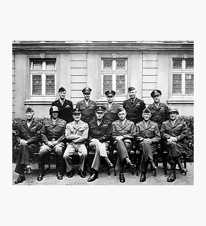 US Generals WWII -- Ike, Patton, Bradley Poster Photographic Print