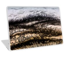 Winter.Hand draw  ink and pen, Watercolor, on textured paper Laptop Skin
