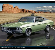 Chevelle 1969 Green Photographic Print