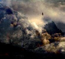 The Mountain shouts its silence. by Kenart