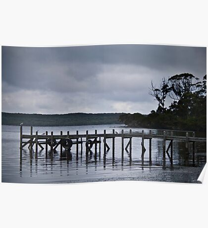 Storm clouds over Jetty Poster