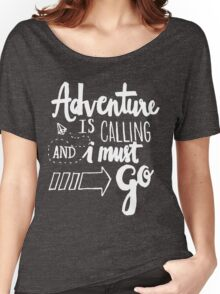 Adventure is Calling - White Women's Relaxed Fit T-Shirt