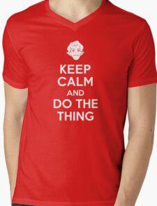 Keep Calm and do the Thing Mens V-Neck T-Shirt