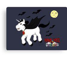 Horror Movie Unicorns: Dracula Canvas Print