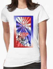 Solar For All (Patriotic Variant) Womens Fitted T-Shirt