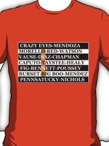 Orange is the New Black Character Layout T-Shirt