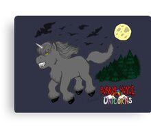 Horror Movie Unicorns: Wolfman Canvas Print