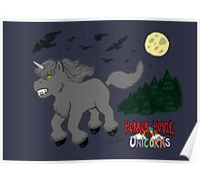 Horror Movie Unicorns: Wolfman Poster