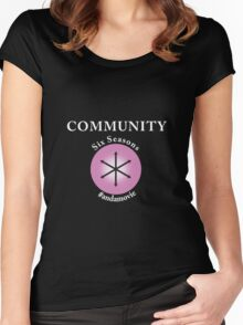Community: Six Seasons #andamovie Women's Fitted Scoop T-Shirt